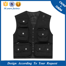OEM anti-pilling soft and breathable black canvas casual vest