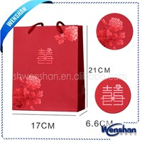 2014 christmas chart customized size paper bag