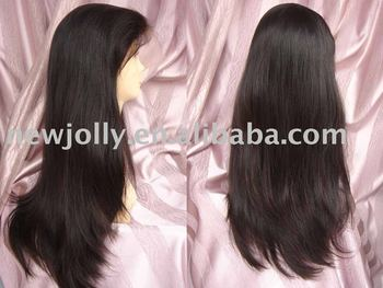 Virgin hair lace wigs, with baby hair and high density