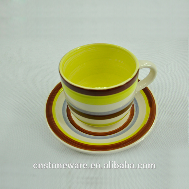 custom size handpainted cup and saucer tea sets With Long-term Service