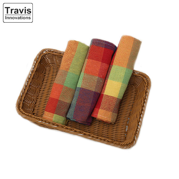 Pure Cotton Bright Colored Yarn Dyed Plain Tea Towel