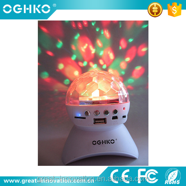 Promotional mini disco light bluetooth speaker for party stage
