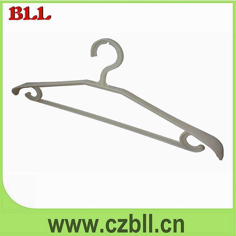 Plastic hotel suit/dress/top clothes hanger with bar