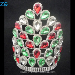 Colored Crystal Crowns And Tiaras Jewelry Tiara Bridal Crown For Pageants