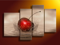 High grade perfect abstract magical red fruit four groups oil Painting on Canvas for living room