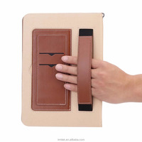 Business portable style Genuine Leather Protective Case Protector With Card Pockets For Ipad pro 9.7'