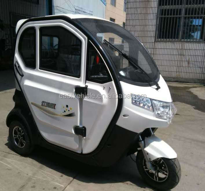 2016 New design cheap 3 wheel closed tricycle electric car for passenger bike taix
