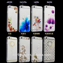 Inside Shiny diamond Clear TPU Bumper Case for iphone 6 6S