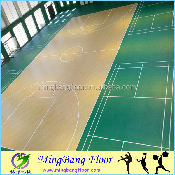 PVC vinyl flooring pvc material Indoor basketball court sport flooring