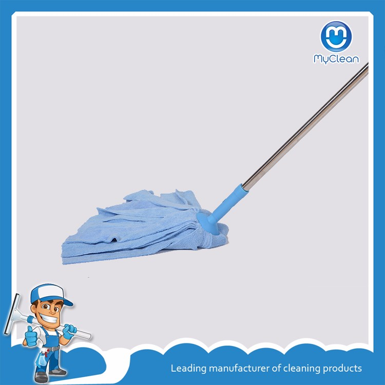 wholesale magic blue microfiber mop with connecting pipe aluminum handle