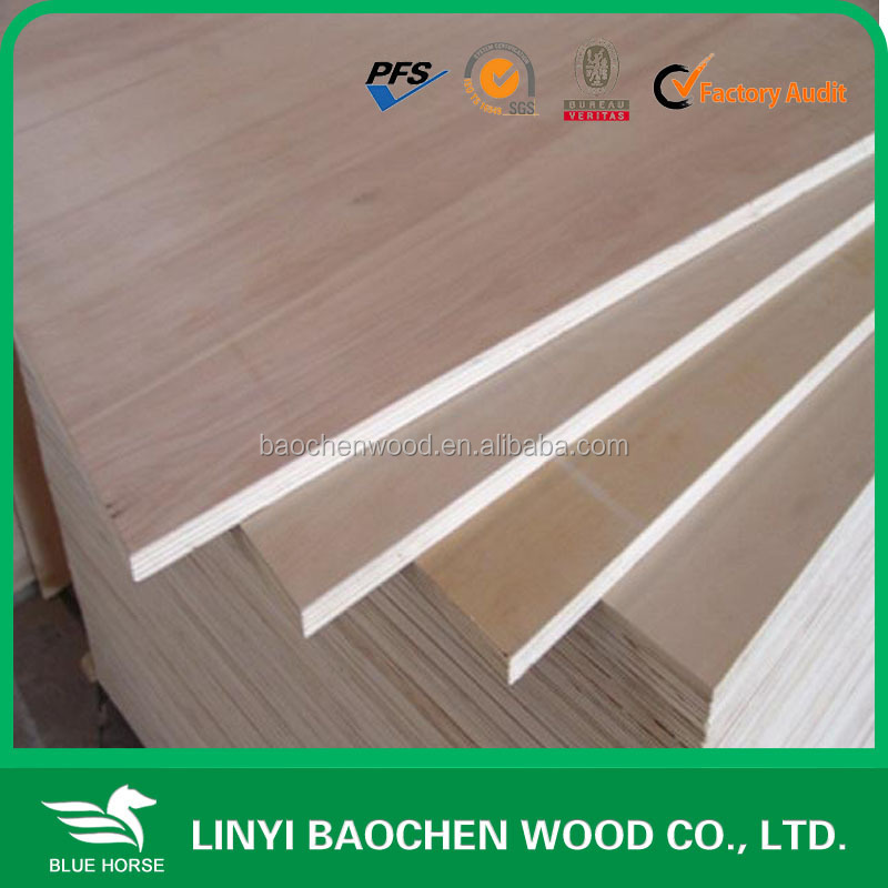 Linyi factory 2mm to 6mm thin plywood sheet
