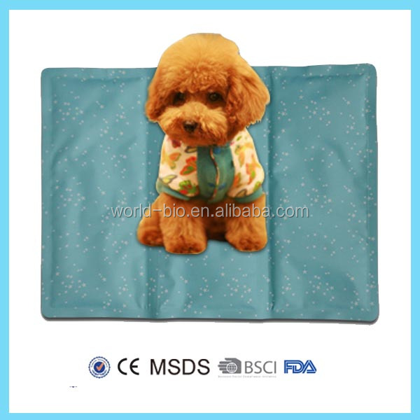 Rectangular dog cool mat pet sleeping pad