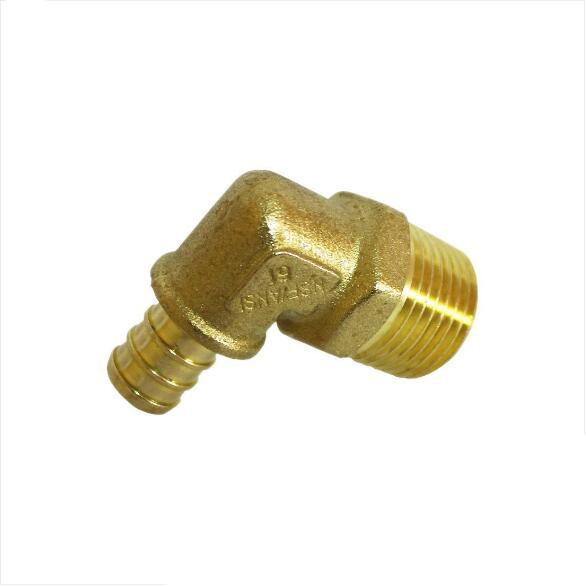 "1/2"" PEX Male NPT Elbow Brass Crimp <strong>Fitting</strong>"