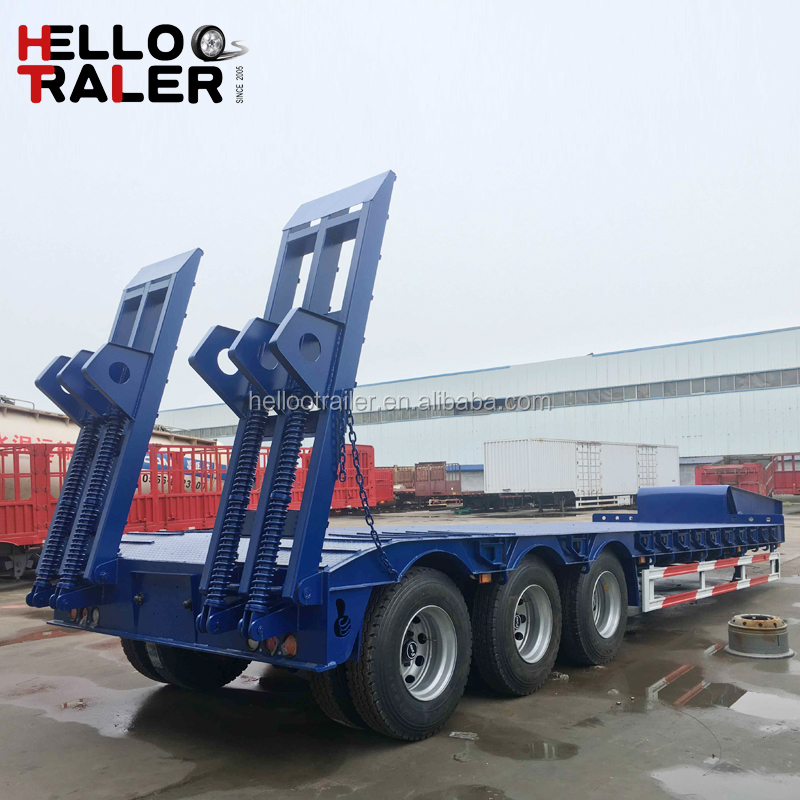 New 4 Axle Low Bed 150 Ton Trailer for Sale