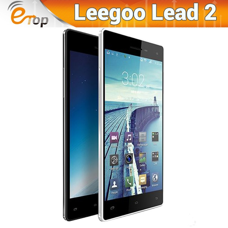 "New Brand Leagoo Lead 2 MTK6582 Quad Core Android 4.4 Cell Phone 5.0"" QHD Screen 1GB RAM 8GB ROM 13MP Camera Dual SIM WCDMA GPS"