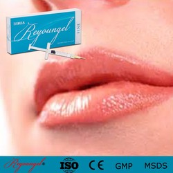 Lip dermal filler which contain clean cross-linked hyaluronic acid to full lip