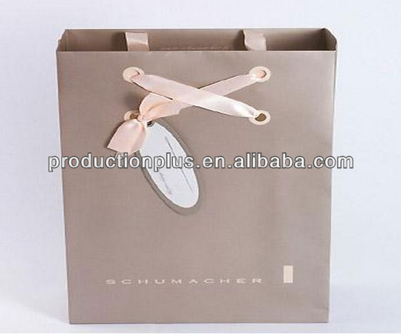 Metallic colour printed paper bags