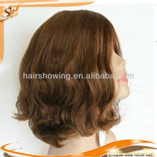 Invisible skin top European human hair Jewish wig