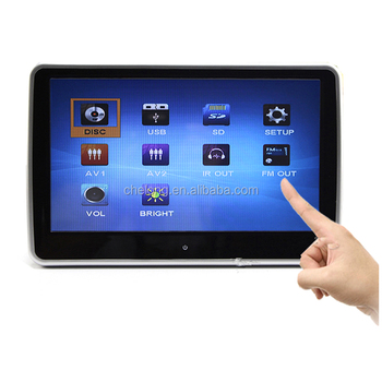 Cheaper hot selling 10.1 inch car touch screendvd with FM,IR car dvd car dvd player headrest