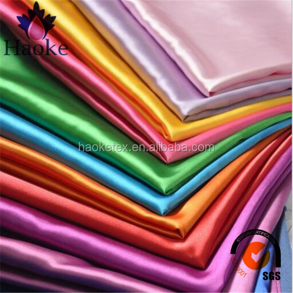 wholesale factory producer free sample 100% polyester satin silk fabric