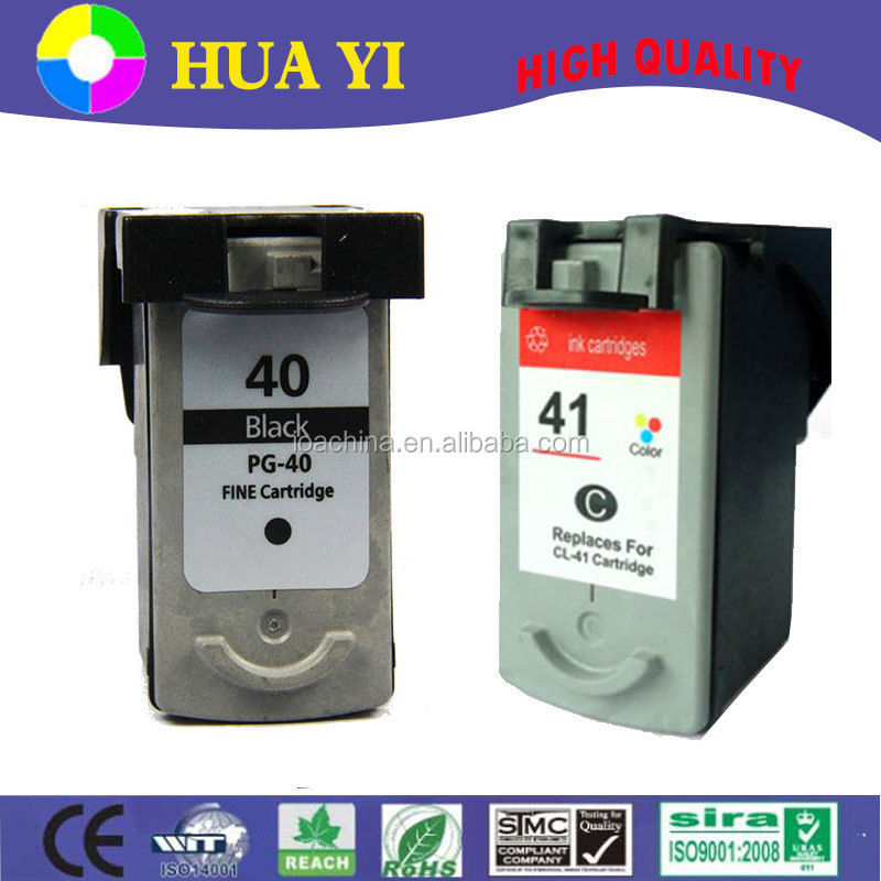 high quality pg-40 cl-41 compatible ink cartridge for canon ip1300