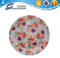 Can customize flower design plastic tray with handles