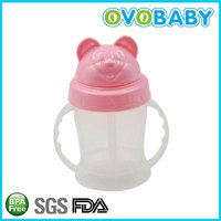 160ml pp baby sippy water cup with straw