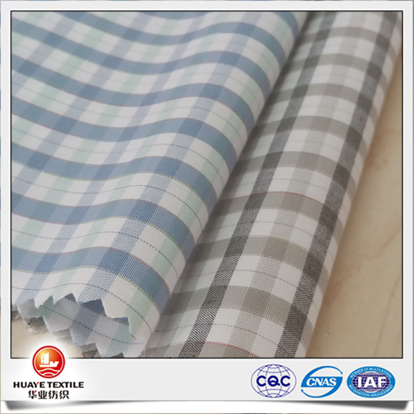 tencel cotton yarn dyed woven plaid shirt fabric from fabric mills china