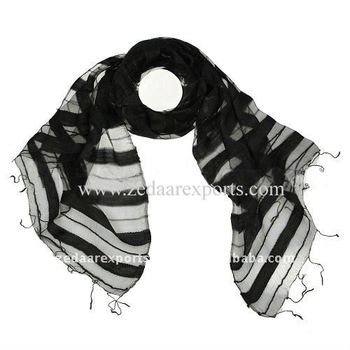 Black light weight scarf