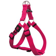 New innovative pet products nylon step in harness with adjustable fuction Extra Large Pink