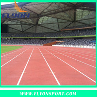 Athletic track material Rubber sport flooring Used sport stadium