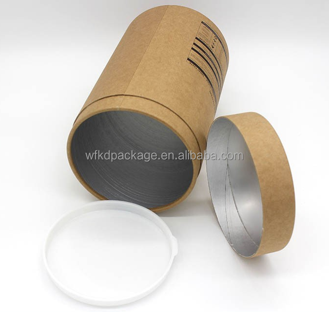 custom design paper round tube protein milk powder food