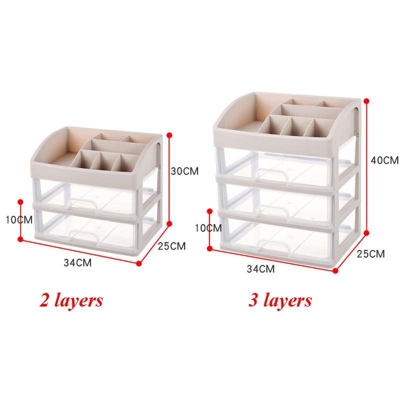 5 Tailles Boites de Rangement en Plastique Organisateu pour Cosm/étiques LinStyle Organisateur Tiroir Bureau Cuisine Rangement Maquillage Tiroir Lot de 10