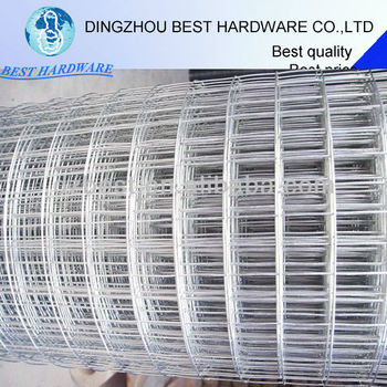Reinforced welded wire mesh galvanized animal fencing mesh