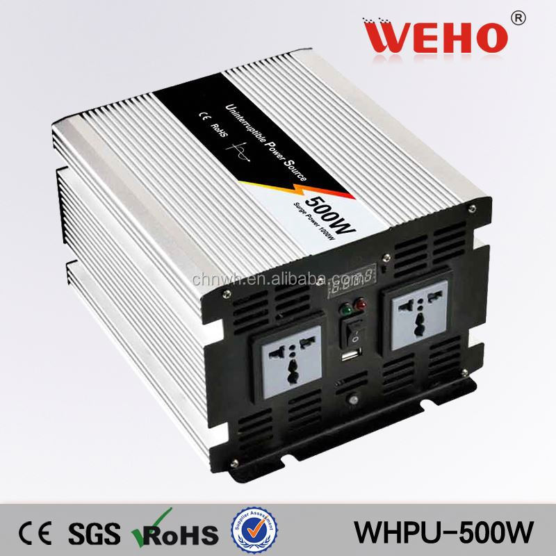 100% test 500w 12v 220v ups electronic inverter circuit with charger
