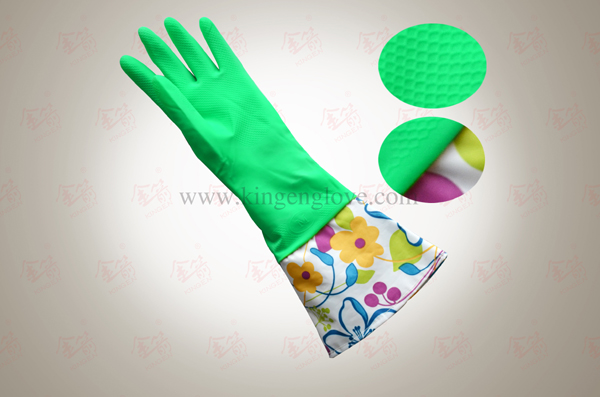 2017 rubber latex household gloves yellow red green blue for home cleaning