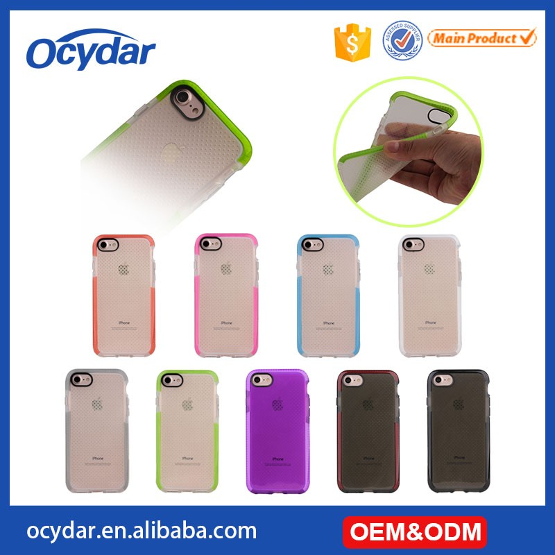 Top Seller 2016 Basketball D30 TPU Case with Candy Color Border for iPhone 7,100% Quality Guarantee Mobile Phone Cover