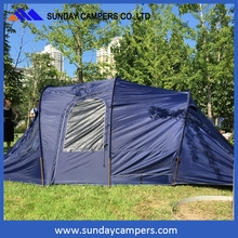 Cheap 6 person canvas automatic camping fast open tent easy to carry