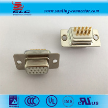 female solder type 3 row HD D-SUB connector