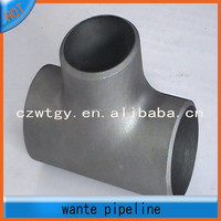 black carbon steel pipe fitting tee & reducer ASTM A234 WPB