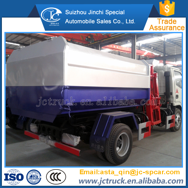 Popular Dongfeng brand 3cbm dongfeng barrel type dump garbage truck supplier in China