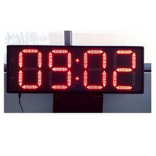 12'' 4 digits red color GPS time zone led clock