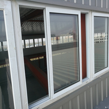 color plastic steel outdoor clear sliding window