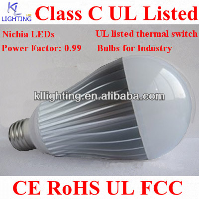 UL Listed Nichia LEDs Industrial 7w led bulb a19 e27 5w clear