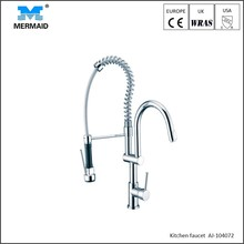 Contemporary pull out faucet spring loaded commercial watermark kitchen sink mixer tap
