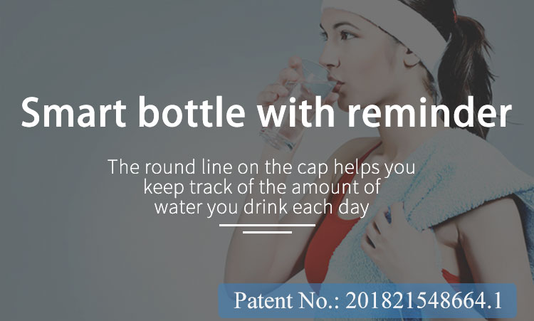 Custom Logo BPA Free Tritan Plastic Smart Drinking  Bottle with Reminder