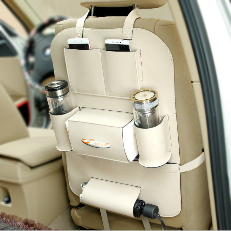 Wholesale leather Material Cup Holder Car Back Seat Organizer