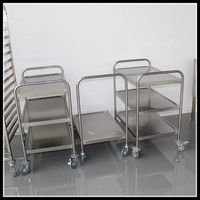 Restaurant Stainless Steel Beverage Trolley Tea Serving Cart China Supplier