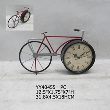 Metal bicycle design standing clock,Clock in wheel style
