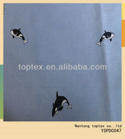 dolphin printed yarn dyed oxford cotton fabric for shirt